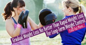 Gradual weight loss no better than rapid weight loss for long-term weight control