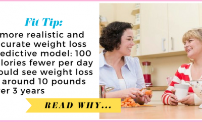 A more realistic and accurate weight loss predictive model: 100 calories fewer per day would see weight loss of around 10 pounds over 3 years