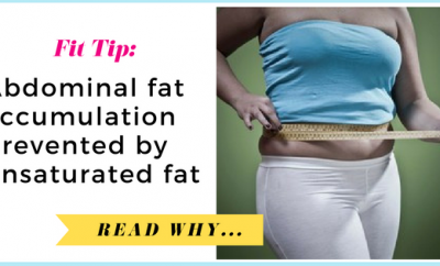 Abdominal fat accumulation prevented by unsaturated fat| via TheWeighWeWere.com