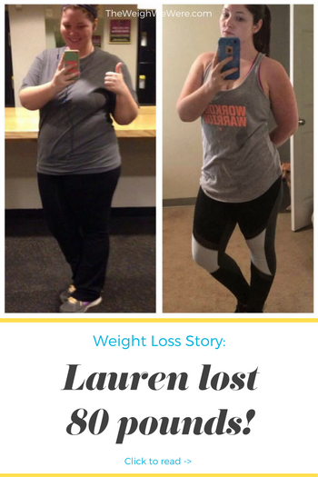 Lauren lost 80 pounds! See my before and after weight loss pictures, and read amazing weight loss success stories from real women and their best weight loss diet plans and programs. Motivation to lose weight with walking and inspiration from before and after weightloss pics and photos.