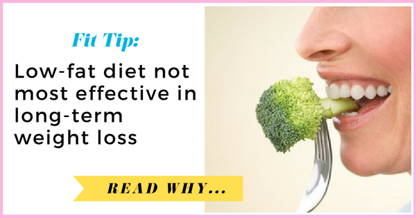 Low-fat diet not most effective in long-term weight loss| via TheWeighWeWere.com