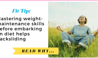 Mastering weight-maintenance skills before embarking on diet helps women avoid backsliding| via TheWeighWeWere.com