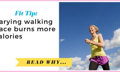 New study shows that varying walking pace burns more calories| via TheWeighWeWere.com