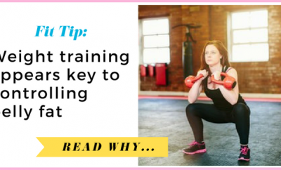 Weight training appears key to controlling belly fat| via TheWeighWeWere.com