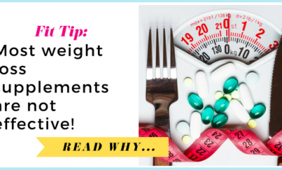 Study: Most weight loss supplements are not effective| via TheWeighWeWere.com