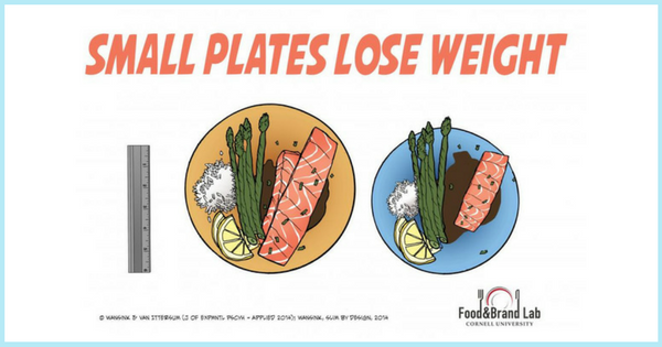 The Large Plate Mistake| via TheWeighWeWere.com