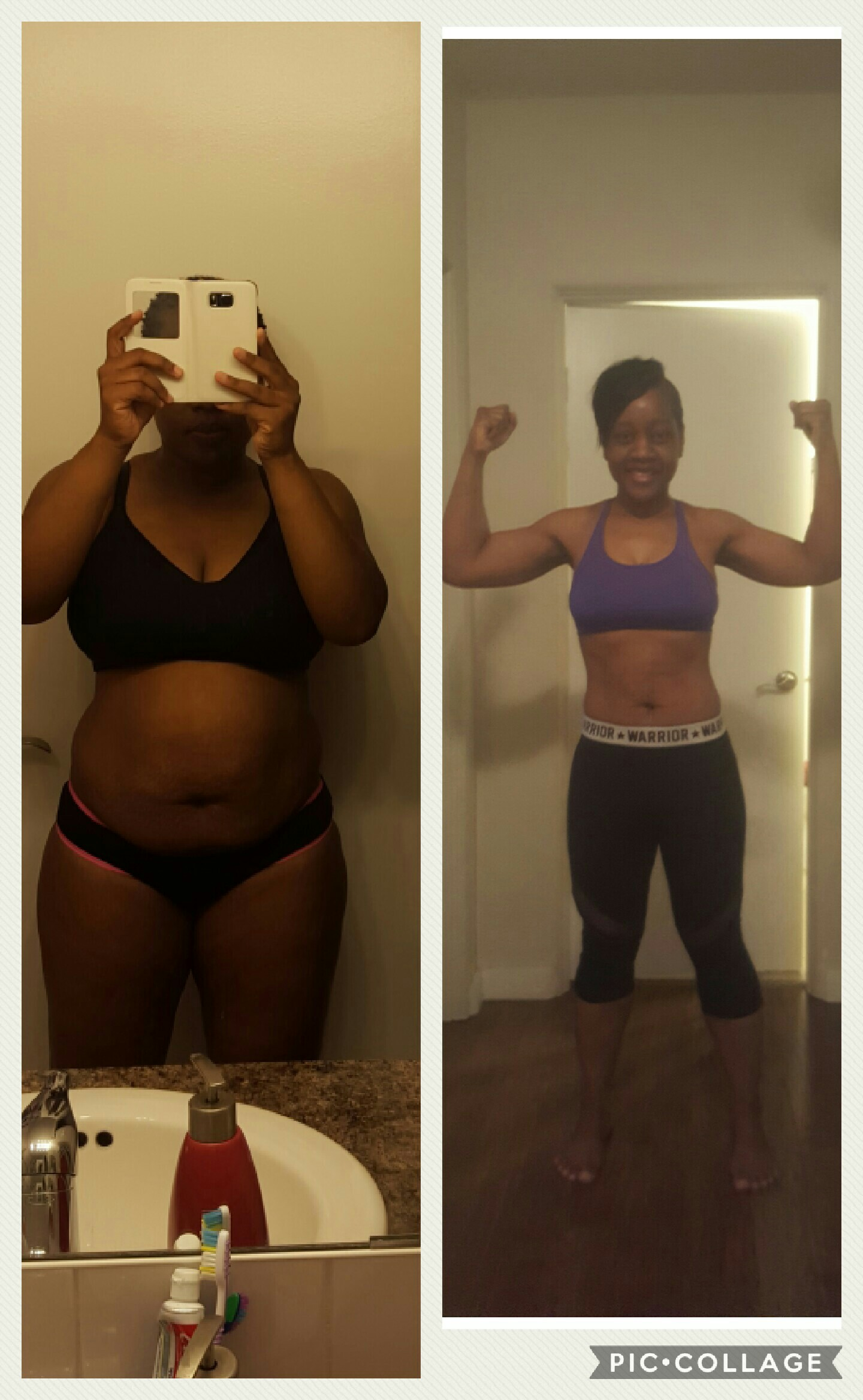 Great success story! Read before and after fitness transformation stories from women and men who hit weight loss goals and got THAT BODY with training and meal prep. Find inspiration, motivation, and workout tips | Nakishas 45 Pound Weight Loss Transformation