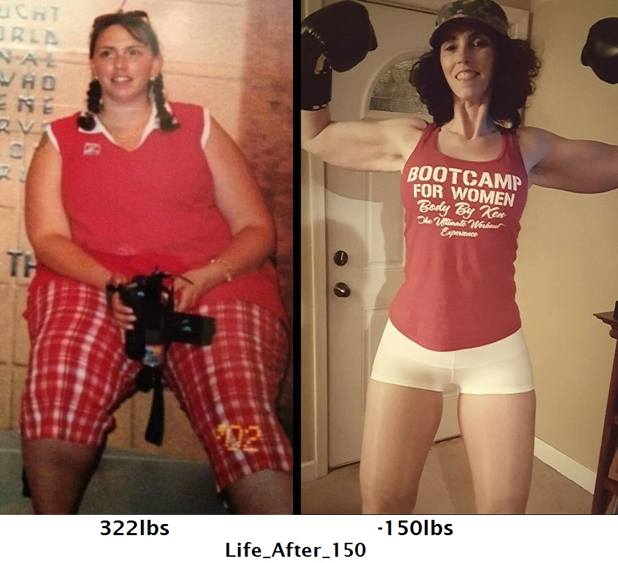 Great success story! Read before and after fitness transformation stories from women and men who hit weight loss goals and got THAT BODY with training and meal prep. Find inspiration, motivation, and workout tips | 150 Pounds Lost:  I WEIGHED 322LBS