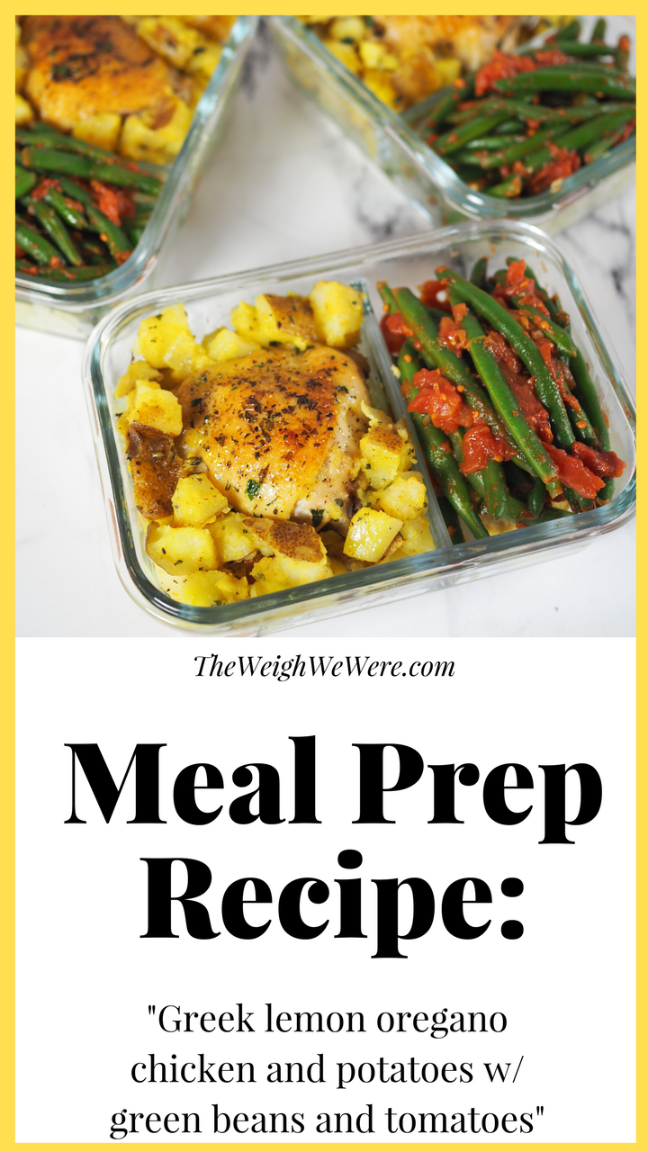 Meal Prep Greek Lemon Chicken And Potatoes With Green