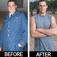 Read his success story! Before and after fitness transformation motivation from men who hit their weight loss goals and got THAT BODY with training and meal prep. Learn their workout tips get inspiration! | TheWeighWeWere.com