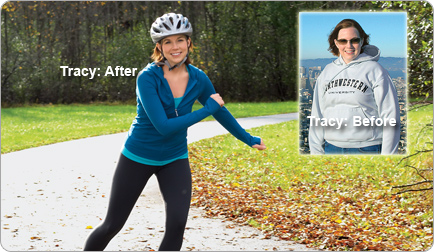 Tracy lost 40 pounds! See my before and after weight loss pictures, and read amazing weight loss success stories from real women and their best weight loss diet plans and programs. Motivation to lose weight with walking and inspiration from before and after weightloss pics and photos.