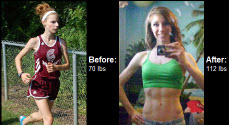Read on to learn how she became determined to beat her condition and put on 40 pounds right here!