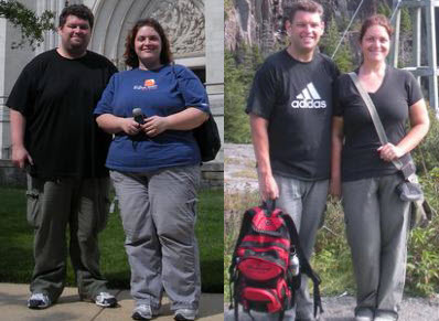 Lesley and Mike lost 275 pounds! See our before and after weight loss pictures, and read amazing weight loss success stories from real women and their best weight loss diet plans and programs. Motivation to lose weight with walking and inspiration from before and after weightloss pics and photos.