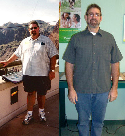 I lost 127 pounds! Read my weight loss success story and see my before and after weight loss pictures at the website The Weigh We Were. Hundreds of success stories, articles and photos of weight loss diet plans for men, tips for how to lose weight for men. Build muscle and lose belly fat with healthy male weight loss transformation pics for inspiration!