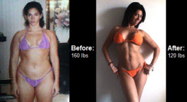 Stacey has made an amazing transformation and now maintains a healthy 120 lbs!