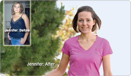 Jennifer lost 84 pounds! See my before and after weight loss pictures, and read amazing weight loss success stories from real women and their best weight loss diet plans and programs. Motivation to lose weight with walking and inspiration from before and after weightloss pics and photos.