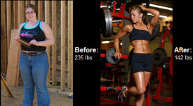 Read her success story! Before and after fitness transformation motivation from women who hit their weight loss goals and got THAT BODY with training and meal prep. Learn their workout tips get inspiration! | TheWeighWeWere.com