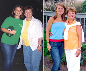 Kathy and Emily lost 53 pounds each! See our before and after weight loss pictures, and read amazing weight loss success stories from real women and their best weight loss diet plans and programs. Motivation to lose weight with walking and inspiration from before and after weightloss pics and photos.