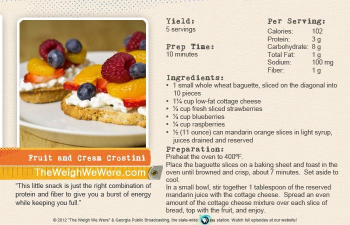Fruit and Cream Crostini