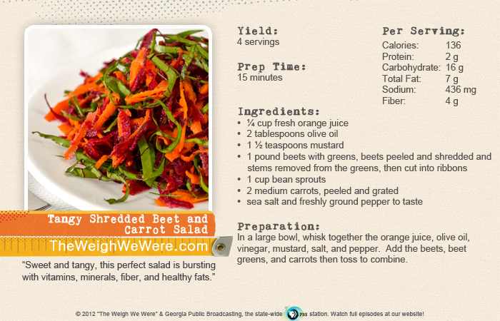 Tangy Shredded Beet and Carrot Salad