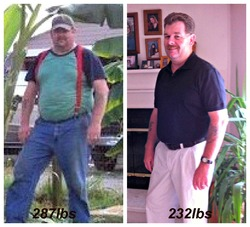 I lost 55 pounds! Read my weight loss success story and see my before and after weight loss pictures at the website The Weigh We Were. Hundreds of success stories, articles and photos of weight loss diet plans for men, tips for how to lose weight for men. Build muscle and lose belly fat with healthy male weight loss transformation pics for inspiration!