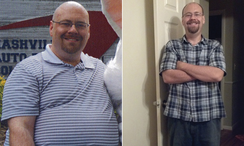 I lost 97 pounds! Read my weight loss success story and see my before and after weight loss pictures at the website The Weigh We Were. Hundreds of success stories, articles and photos of weight loss diet plans for men, tips for how to lose weight for men. Build muscle and lose belly fat with healthy male weight loss transformation pics for inspiration!