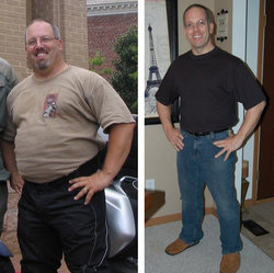 I lost 82 pounds! Read my weight loss success story and see my before and after weight loss pictures at the website The Weigh We Were. Hundreds of success stories, articles and photos of weight loss diet plans for men, tips for how to lose weight for men. Build muscle and lose belly fat with healthy male weight loss transformation pics for inspiration!