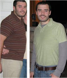 I lost 53 pounds! Read my weight loss success story and see my before and after weight loss pictures at the website The Weigh We Were. Hundreds of success stories, articles and photos of weight loss diet plans for men, tips for how to lose weight for men. Build muscle and lose belly fat with healthy male weight loss transformation pics for inspiration!