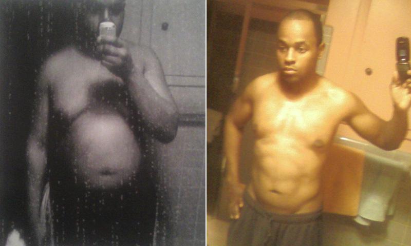 medium build man weight lose