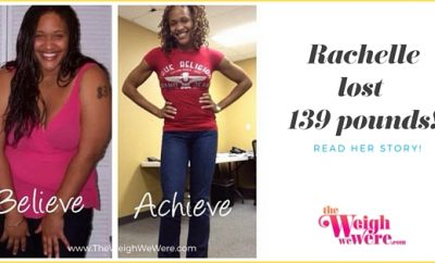 Read her story for inspiration! Black women before and after weight loss transformation. African American female fitness motivation workout photos and pictures. 30, 40, 50, 60, 100 pound weightloss Rachelle lost 139 pounds!