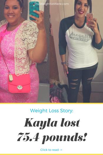 Kayla Lost 75.4 Pounds