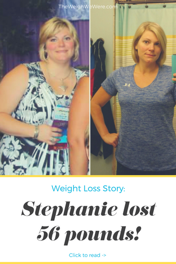 Stephanie lost 56 pounds! See my before and after weight loss pictures, and read amazing weight loss success stories from real women and their best weight loss diet plans and programs. Motivation to lose weight with walking and inspiration from before and after weightloss pics and photos.