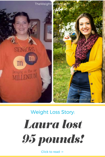 Laura lost 95 pounds! See my before and after weight loss pictures, and read amazing weight loss success stories from real women and their best weight loss diet plans and programs. Motivation to lose weight with walking and inspiration from before and after weightloss pics and photos.