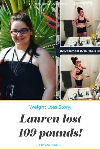 Lauren lost 109 pounds! See my before and after weight loss pictures, and read amazing weight loss success stories from real women and their best weight loss diet plans and programs. Motivation to lose weight with walking and inspiration from before and after weightloss pics and photos.