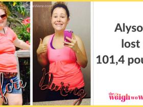 Alyson Lost 101.4 Pounds