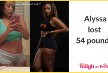 Read her story for inspiration! Black women before and after weight loss transformation. African American female fitness motivation workout photos and pictures. 30, 40, 50, 60, 100 pound weightloss Alyssa Lost 54 Pounds