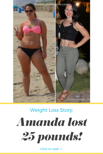 Amanda lost 25 pounds! See my before and after weight loss pictures, and read amazing weight loss success stories from real women and their best weight loss diet plans and programs. Motivation to lose weight with walking and inspiration from before and after weightloss pics and photos.