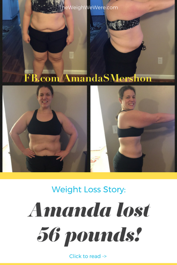 Amanda lost 56 pounds! See my before and after weight loss pictures, and read amazing weight loss success stories from real women and their best weight loss diet plans and programs. Motivation to lose weight with walking and inspiration from before and after weightloss pics and photos.