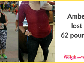 Amber lost 62 pounds!