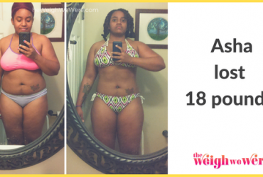 Read her story for inspiration! Black women before and after weight loss transformation. African American female fitness motivation workout photos and pictures. 30, 40, 50, 60, 100 pound weightloss Asha Lost 118 Pounds