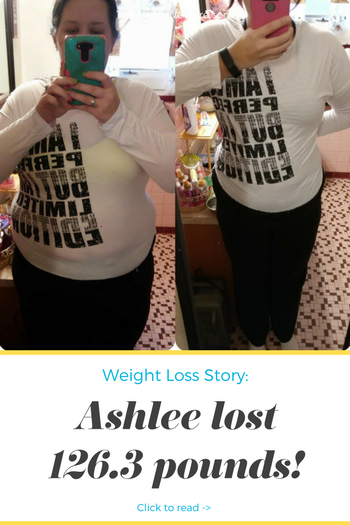 Ashlee lost 126.3 pounds! See my before and after weight loss pictures, and read amazing weight loss success stories from real women and their best weight loss diet plans and programs. Motivation to lose weight with walking and inspiration from before and after weightloss pics and photos.