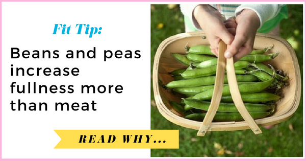 Beans and peas increase fullness more than meat  via TheWeighWeWere.com