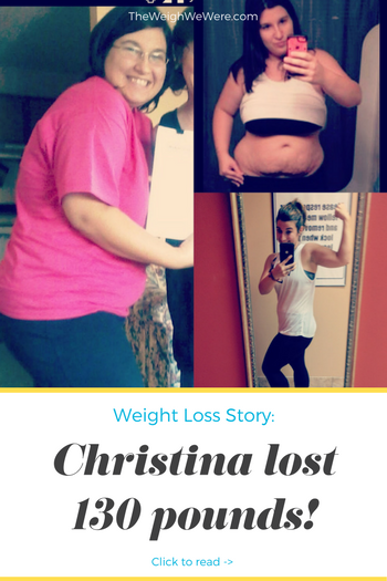 Christina lost 130 pounds! See my before and after weight loss pictures, and read amazing weight loss success stories from real women and their best weight loss diet plans and programs. Motivation to lose weight with walking and inspiration from before and after weightloss pics and photos.