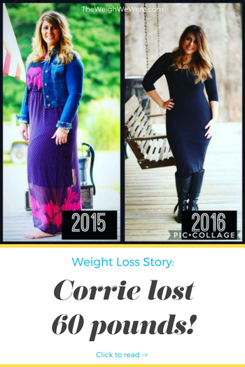 Corrie lost 60 pounds! See my before and after weight loss pictures, and read amazing weight loss success stories from real women and their best weight loss diet plans and programs. Motivation to lose weight with walking and inspiration from before and after weightloss pics and photos.
