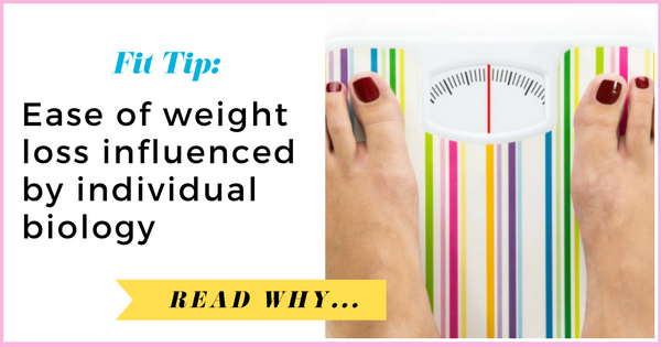 Ease of weight loss influenced by individual biology| via TheWeighWeWere.com