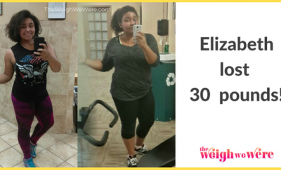 Read her story for inspiration! Black women before and after weight loss transformation. African American female fitness motivation workout photos and pictures. 30, 40, 50, 60, 100 pound weightloss Elizabeth Lost 30 Pounds
