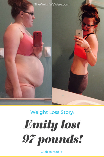 Emily lost 97 pounds! See my before and after weight loss pictures, and read amazing weight loss success stories from real women and their best weight loss diet plans and programs. Motivation to lose weight with walking and inspiration from before and after weightloss pics and photos.