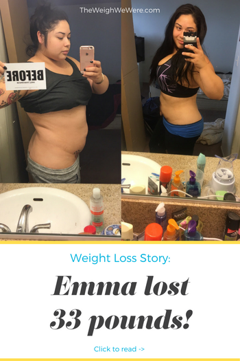 Emma lost 33 pounds! See my before and after weight loss pictures, and read amazing weight loss success stories from real women and their best weight loss diet plans and programs. Motivation to lose weight with walking and inspiration from before and after weightloss pics and photos.