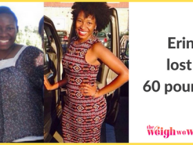 Read her story for inspiration! Black women before and after weight loss transformation. African American female fitness motivation workout photos and pictures. 30, 40, 50, 60, 100 pound weightloss Erin Lost 60 Pounds