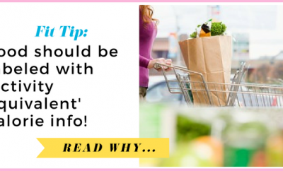 Food should be labelled with 'activity equivalent' calorie information  via TheWeighWeWere.com